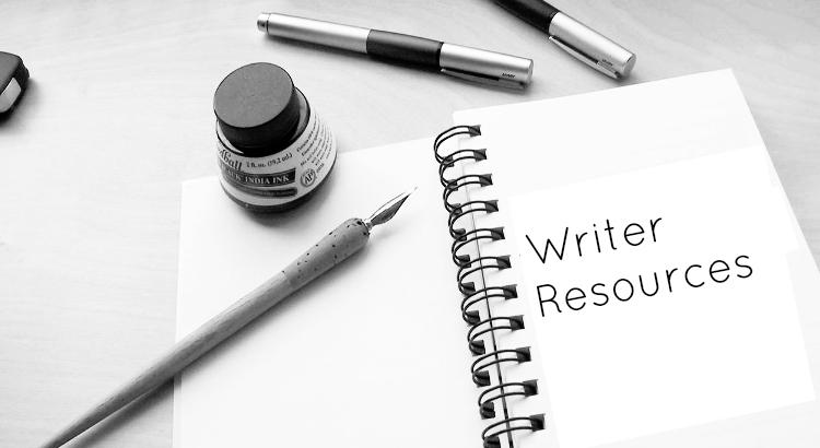 writer resources page header